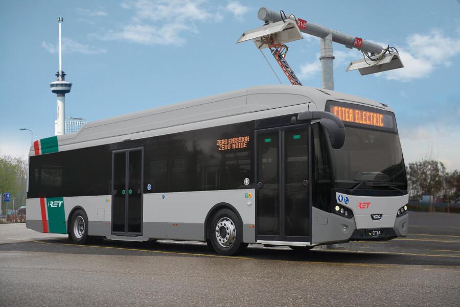 Roterdamas elektriskais autobuss