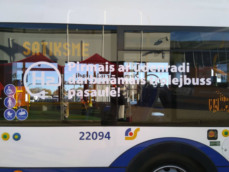 Rīgas Satiksmes ūdeņraža trolejbuss