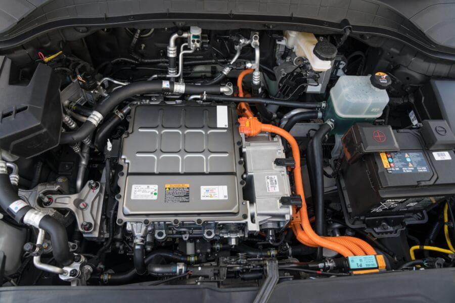 Hyundai Kona motortelpa