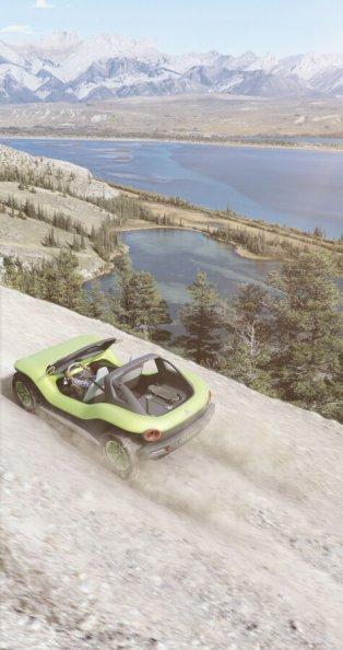 Volkswagen I.D. Buggy - elektromobilis, kas gatavs kāpām 7