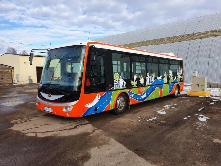 """""""Rēzeknes Satiksme"""" elektriskais autobuss"""