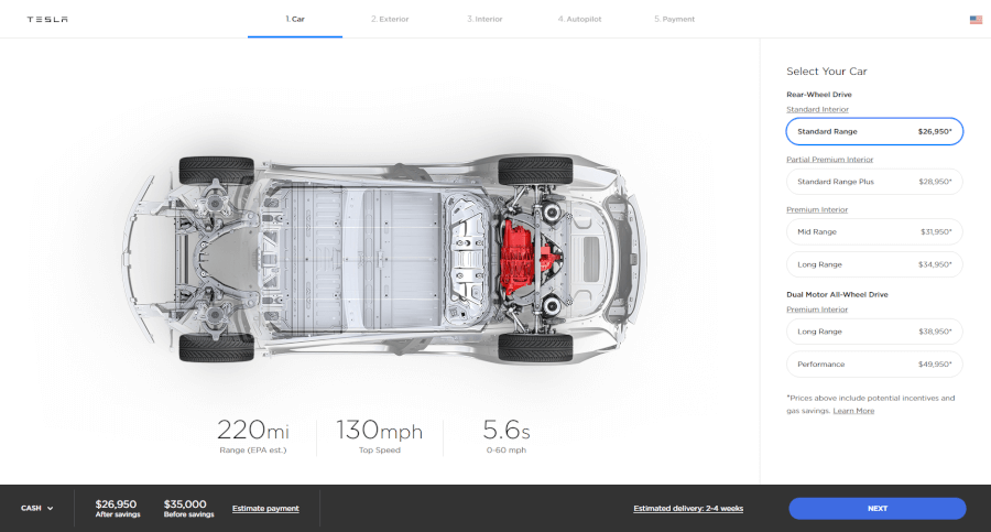 Model 3 konfigurācija