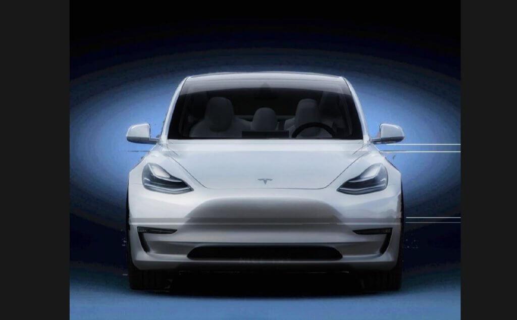 Tesla Model Y mākslinieka interpretācija