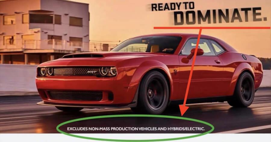 Dodge Challenger Demon reklāma