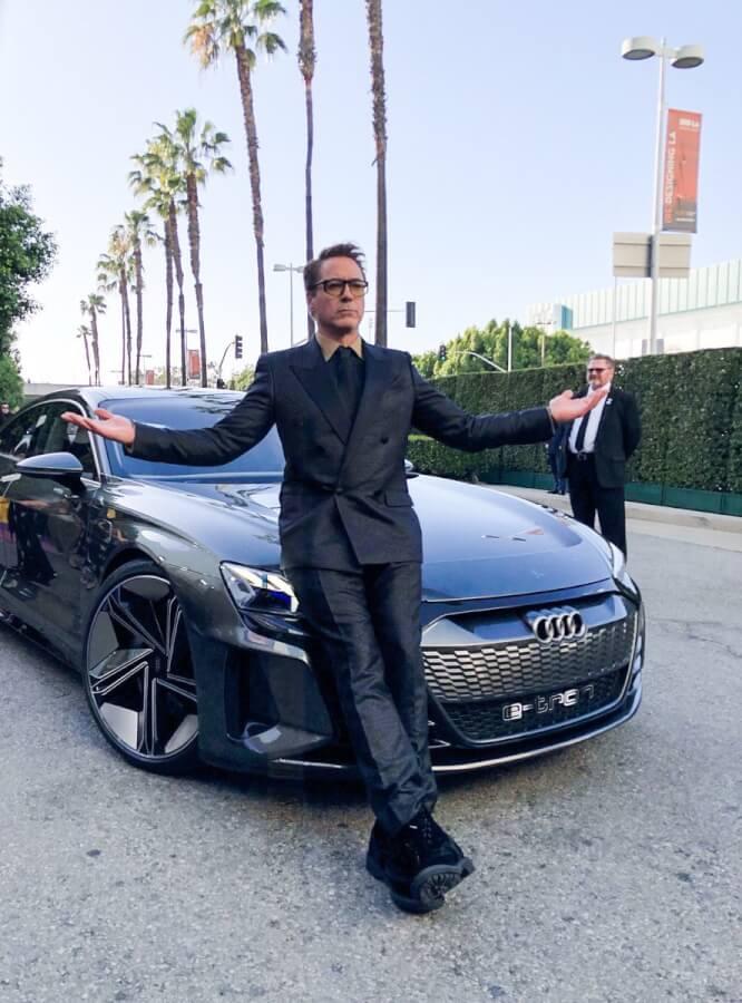 Dzelzsvīrs ar Audi e-tron GT