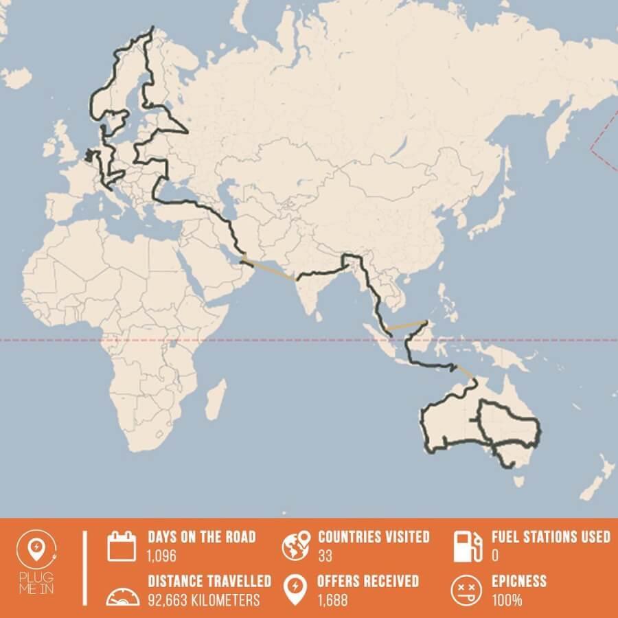No Amsterdamas līdz Sidnejai ar elektroauto