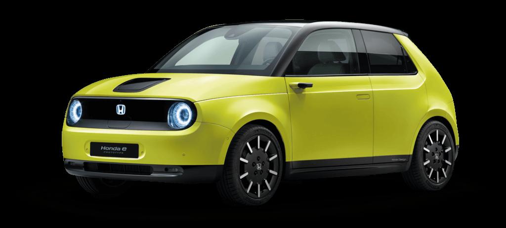 Honda e dzeltena