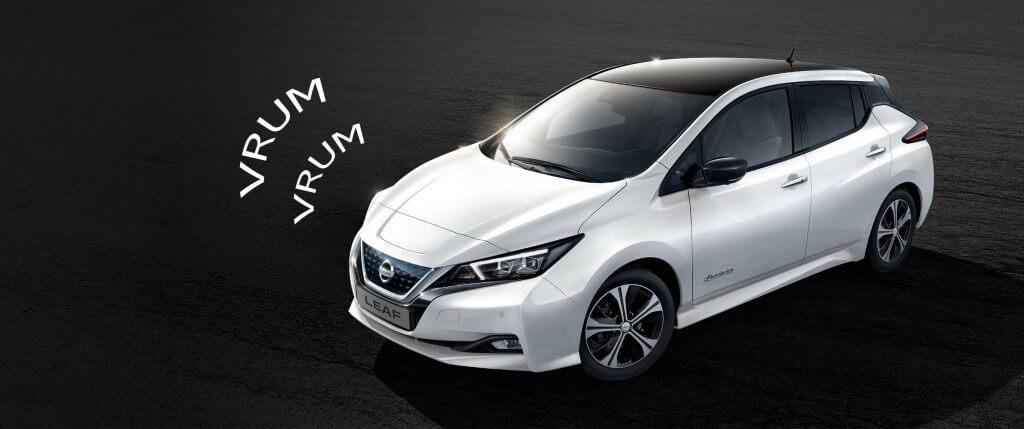 Nissan Leaf ar skaņu