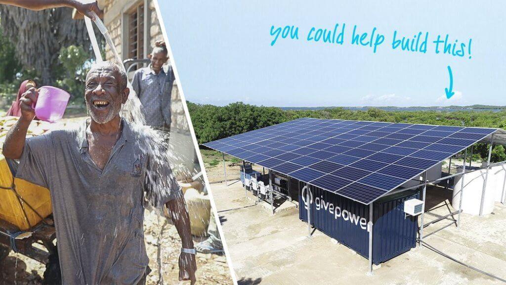 GivePower solārā ūdens atsāļošanas sistēma