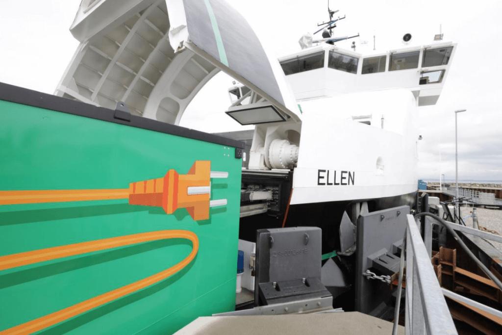 Elektriskais prāmis Ellen no Leclance