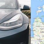 Tesla Model 3 Baltijas ceļš