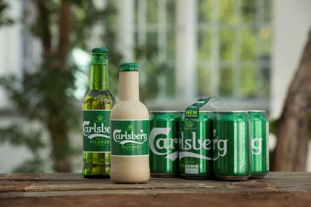 Carlsberg zaļās šķiedras pudele