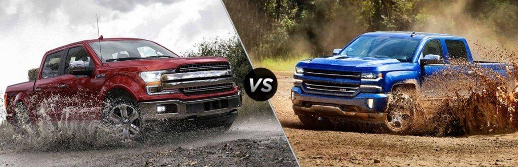 Ford F-150 vs Chevrolet Silverado