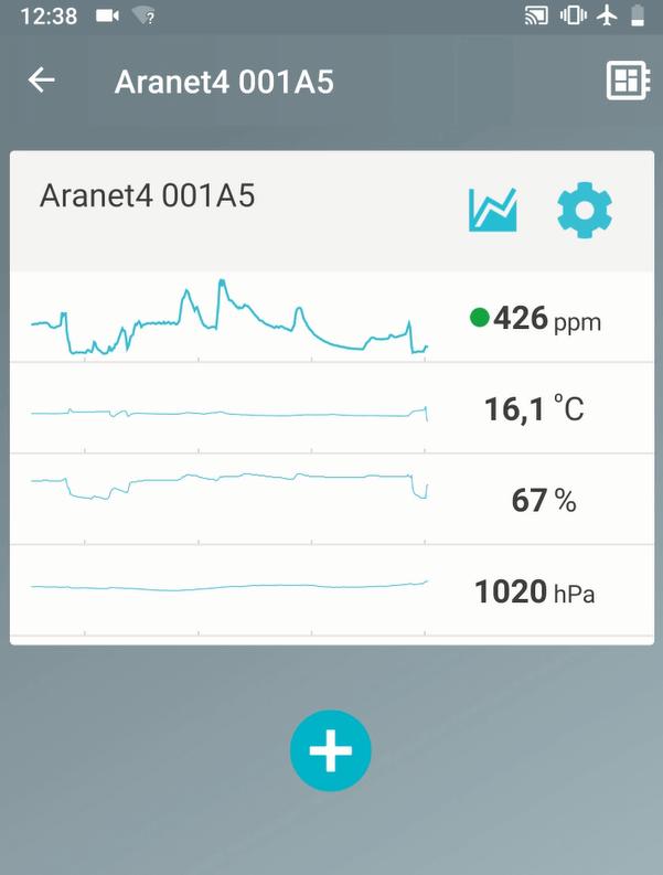 Aranet4 aplikācija