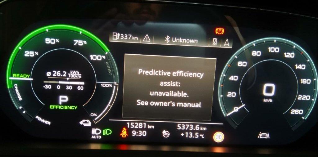 Audi e-tron 55 navigācija