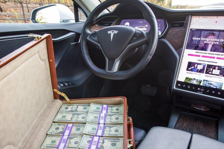 Omaze Tesla Model S un nauda
