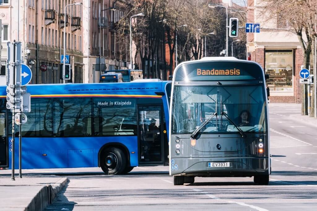 Dancer elektriskie autobusi. Ražoti Lietuvā.