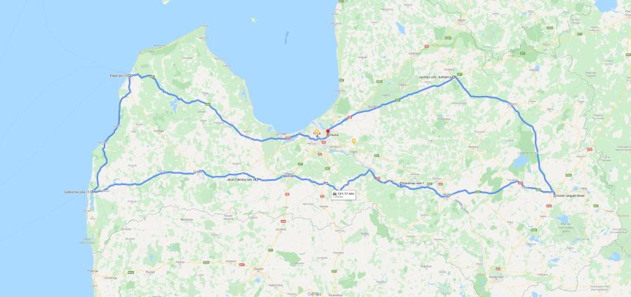 1000 km karte