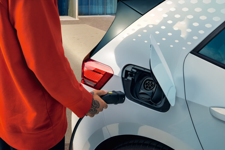 Volkswagen elektrisko automobilu uzlade