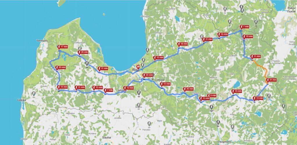 1000 km maršruts