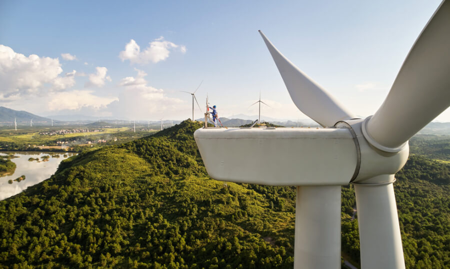 Apple finansiāli atbalstītais vēja parks Ķīnā