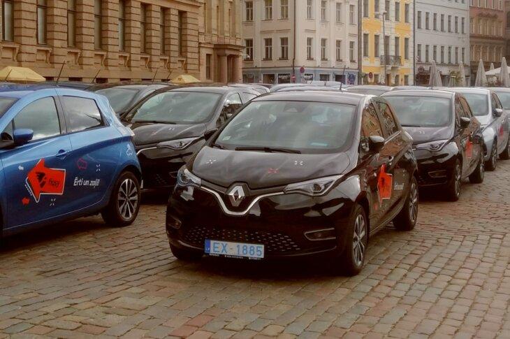 Fiqsy elektroauto koplietošanas pakalpojums ar Renault Zoe