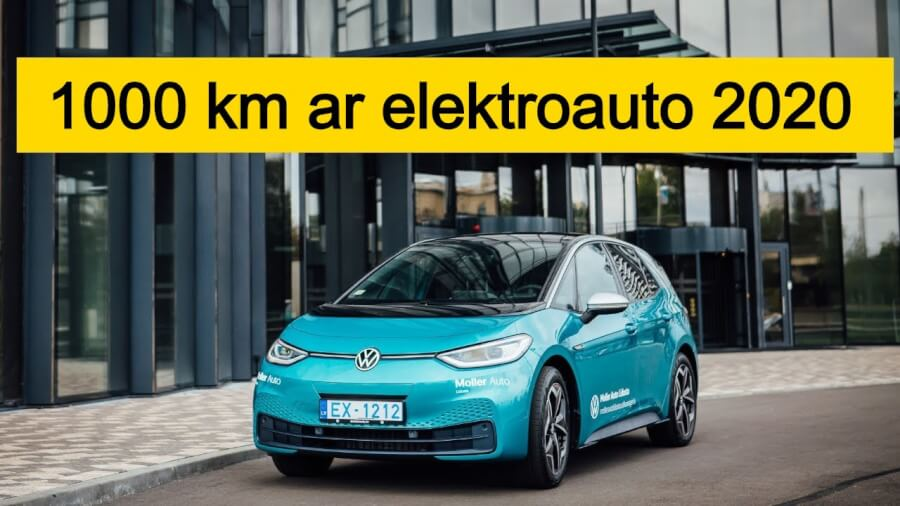 1000 km ar elektroauto