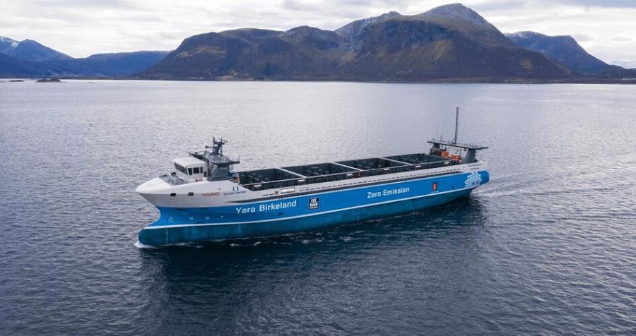 Yara Birkeland autonomais un elektriskais kravas kuģis