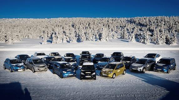 NAF pārbaudītie 20 elektroauto