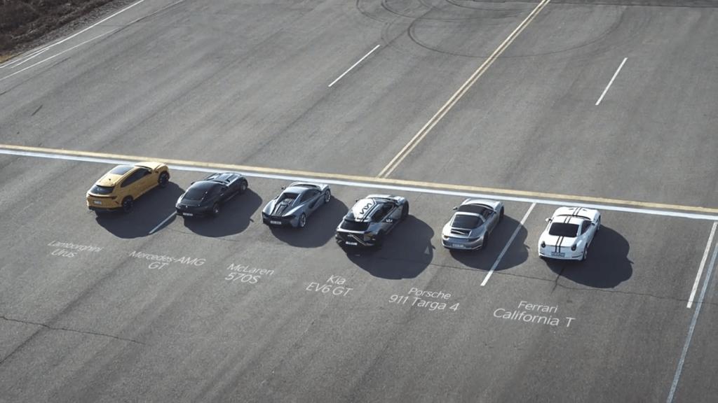 Kia EV6 pret vairākiem superauto