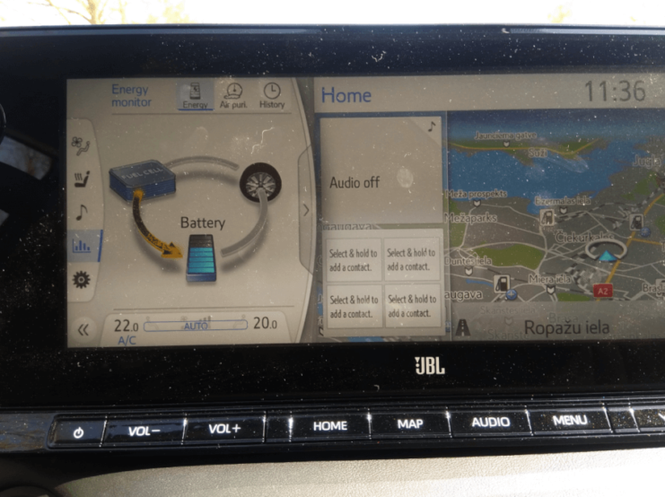 Ūdeņraža elektroauto Toyota Mirai apskats 3