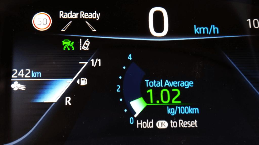 Toyota Mirai patēriņš