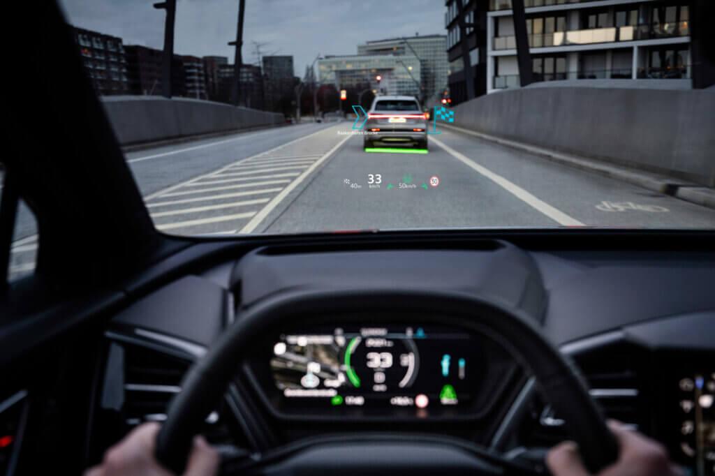 Audi Q4 e-tron paplašinātā realitāte