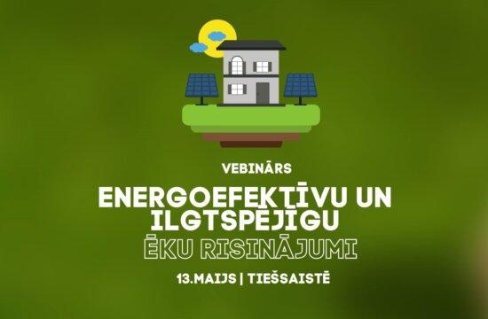 Energoefektīvu un ilgtspējīgu ēku risinājumi