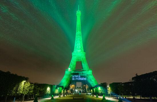 Ūdeņraža degvielas šūnu tehnoloģija ekoloģiski izgaismo Eifeļa torni