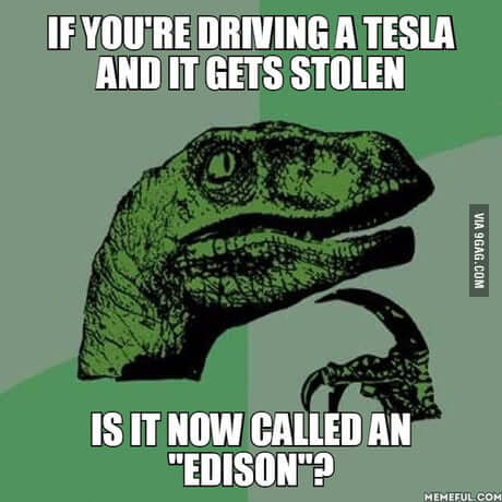 Zagta Tesla = Edison