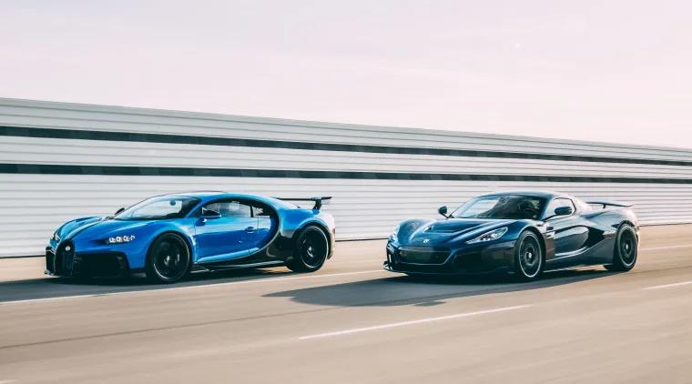 Bugatti Chiron un Rimac Nevera