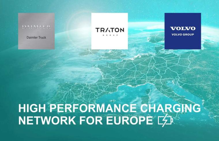 Volvo Trucks, Daimler trucks, Traton group apvienojas uzlādes tīkla izveidē